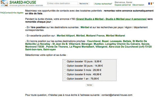 annonces sur Shared house