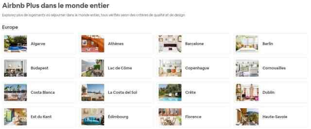Seules certaines zones géographiques sont éligibles à Airbnb Plus