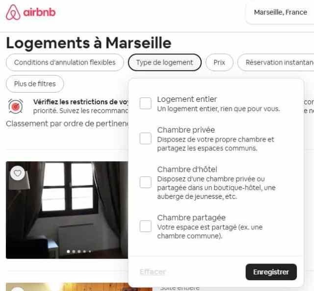 type de logement sur airbnb vs abritel homeaway