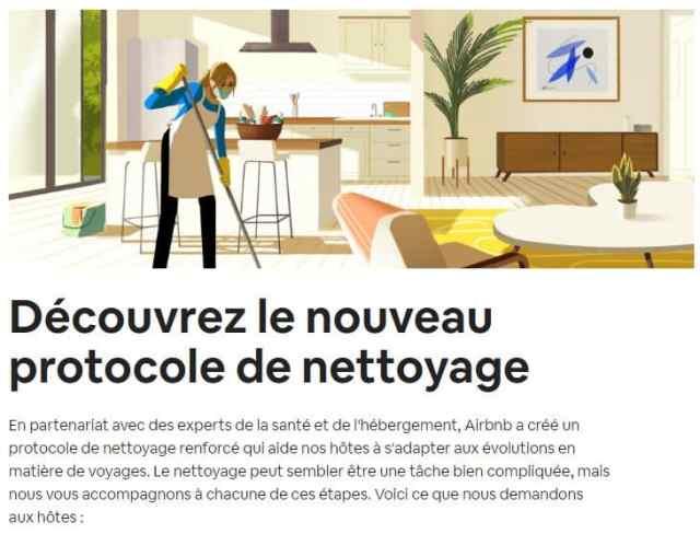 Illustration du nouveau protocole de nettoyage de Airbnb (source Airbnb)
