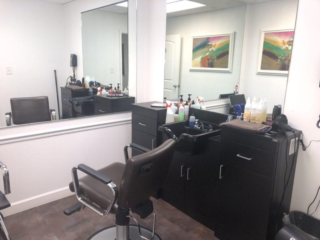 Image of booth at Eldorado Hair Replacement