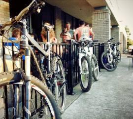 Bikers at Mraz Brewery