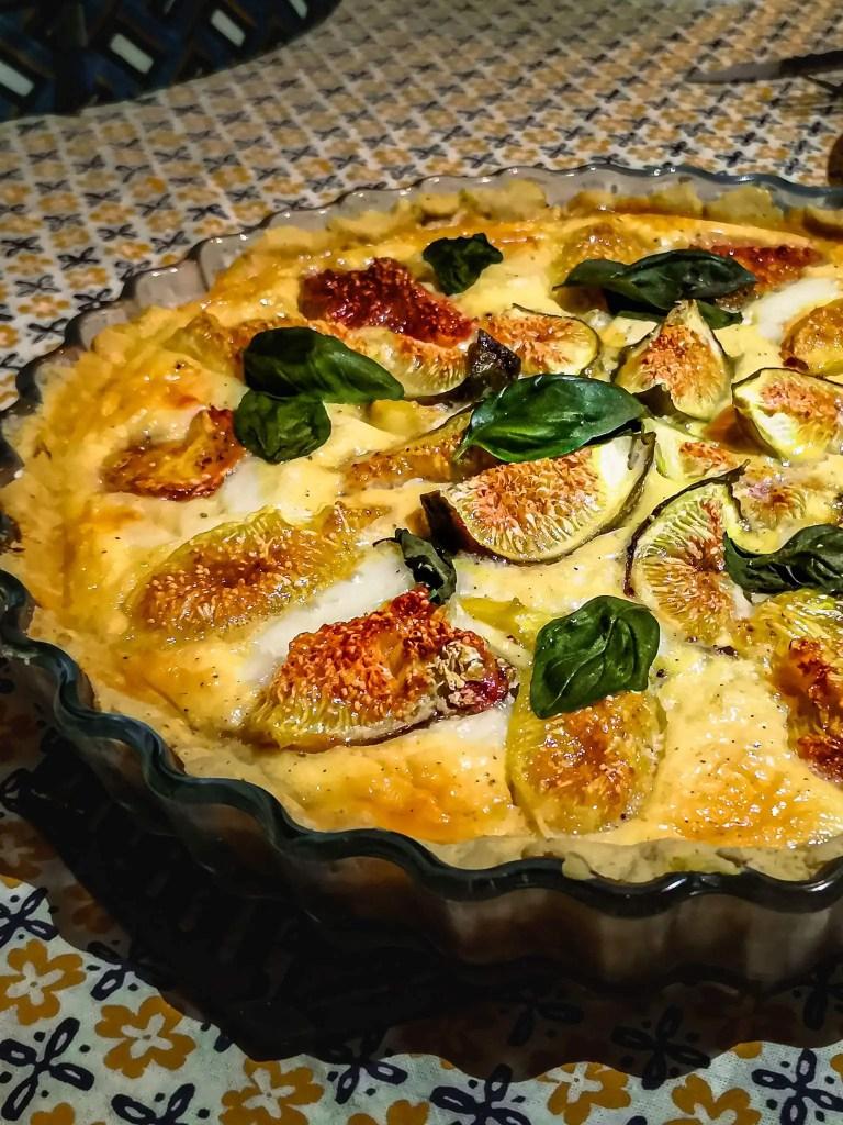 Recette Tarte aux figues et au fromage de chevre
