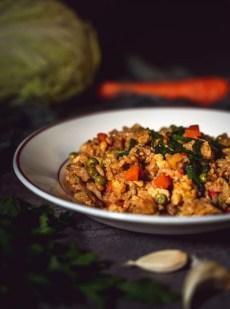 Fried rice riz cantonais aux légumes