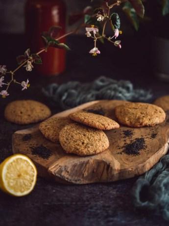 Cookies au citron, graines de pavot et poudre d'amande sans gluten sans lactose