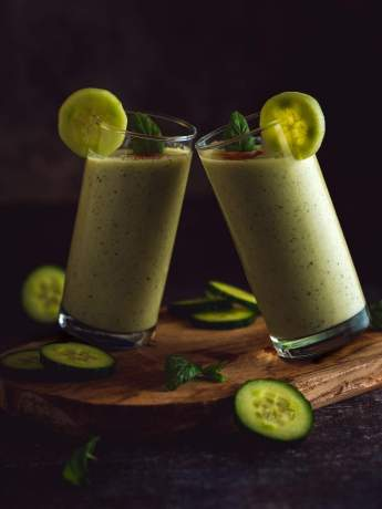 soupe froide concombre menthe et yaourt grec façon gaspacho vert