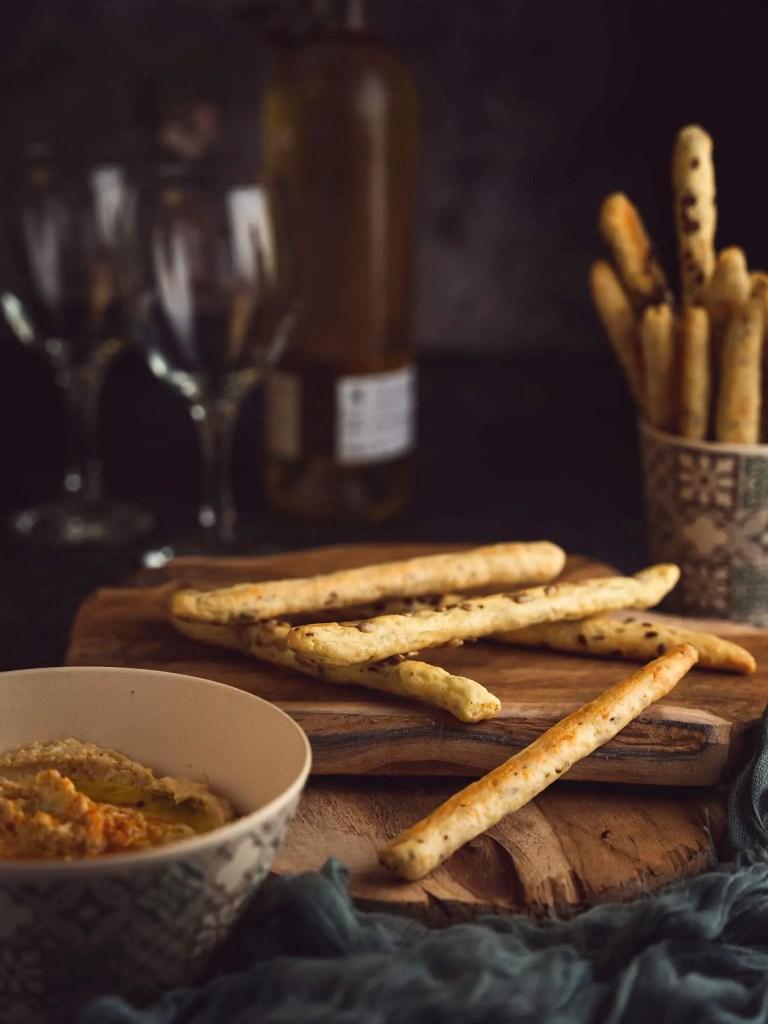 gressin maison aux graines de cumin, gruyère et parmesan