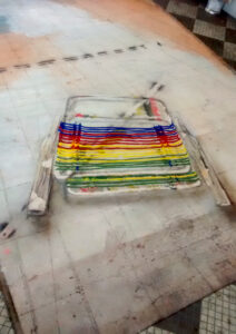 lawn chair floor work