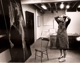 1989 Eleanor Dickinson in Belcher Street studio, San Francisco