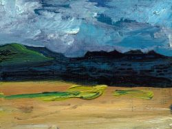 © 2012-15 Eleanore Ditchburn, The Cuillin, Isle of Skye Scottish Highlands 13 x 18 cm oil on Panel