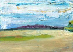 Scottish Landscape © 2012 Eleanore Ditchburn, 13 x 18 cm Oil on Panel