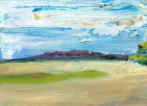Scottish Landscape © 2012 Eleanore Ditchburn, 13 x 18 cm Oil on Panel