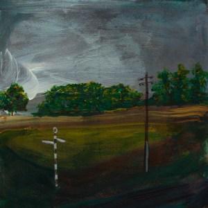 © 2015 Eleanore Ditchburn, Nenthead, Acrylic on Gessobord 10 x 10 cm