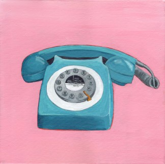 Teal Telephone by Eleanore Ditchburn at eleanoreditchburn.com