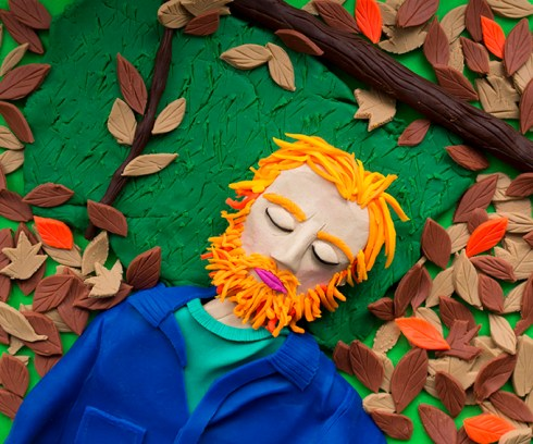 Original photograph: 2008_02zL0189, from 'Broken Manual' by Alec Soth rendered in Play-Doh 2015 © Eleanor Macnair