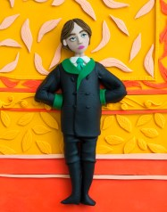 Original photograph: Oscar Wilde, 1882 by Napoleon Sarony rendered in Play-Doh