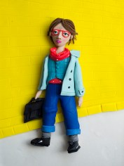 Back to school fashion illustration in Play-Doh for Vogue Bambini September 2016
