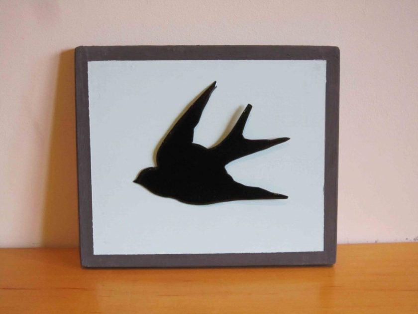 enamelled swallow wall hanging
