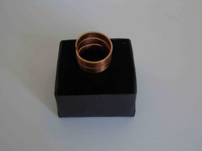 chunky spiral ring on box