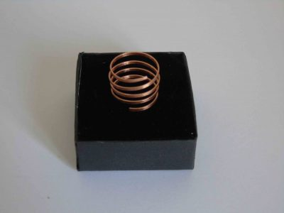 spiral copper ring with many twists