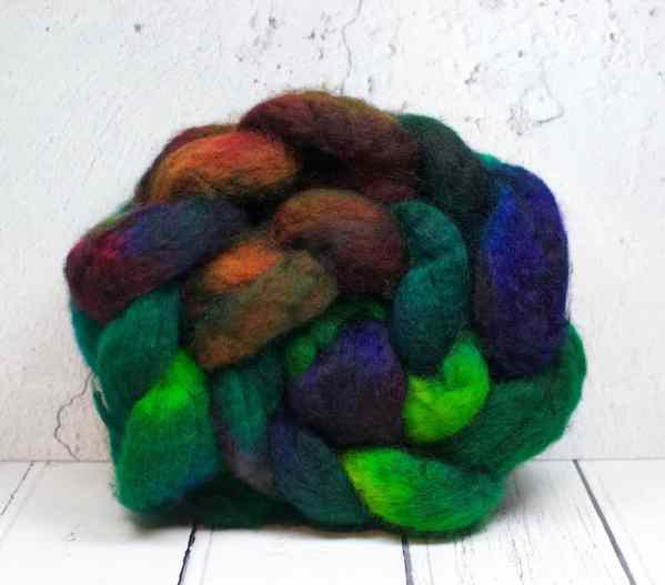 BFL wool top roving