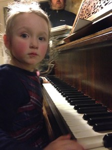Ara takes to the piano after being inspired by the professionals.