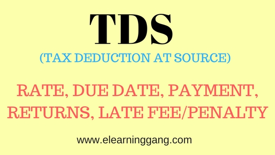 Tds rate chart for fy 2018 19 tds rate chart 2018 19 elearniggang tds tax deduction at source reheart Images