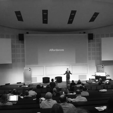 James Clay presenting at ALT-C 2012