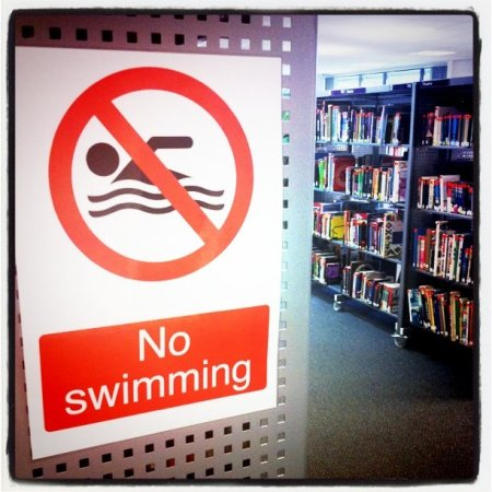 No Swimming in the Library