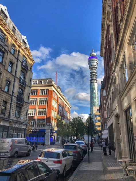 BT Tower in Fitzrovia