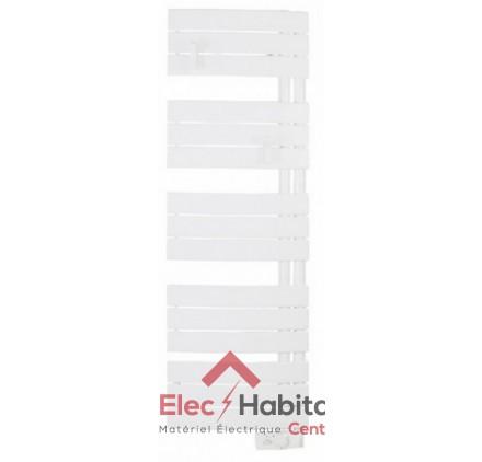 radiateur seche serviette nefertiti etroit blanc 500w mat a droite atlantic 850506