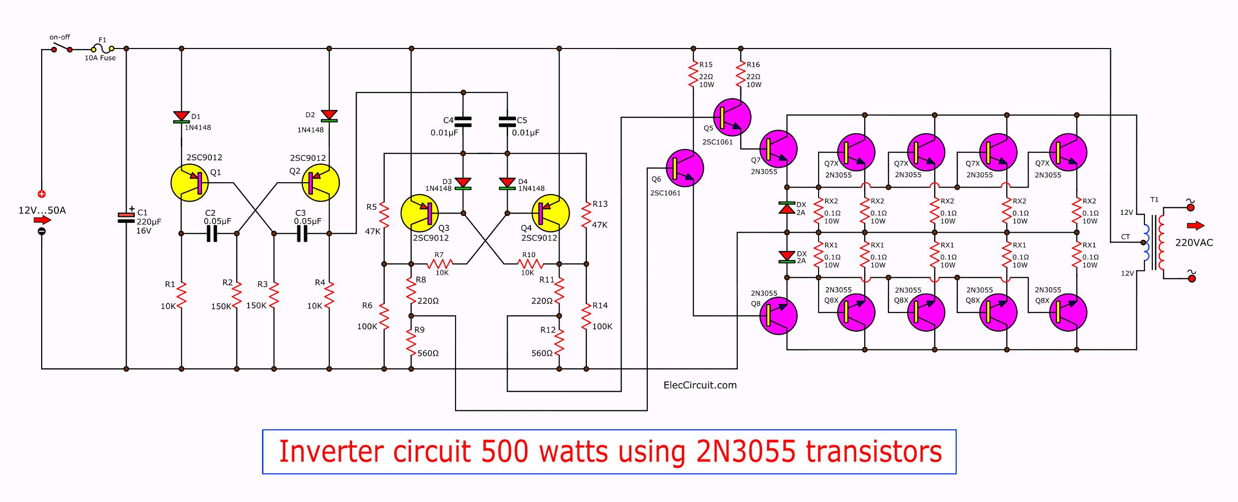 24v To 220v Inverter Circuit 300W Power