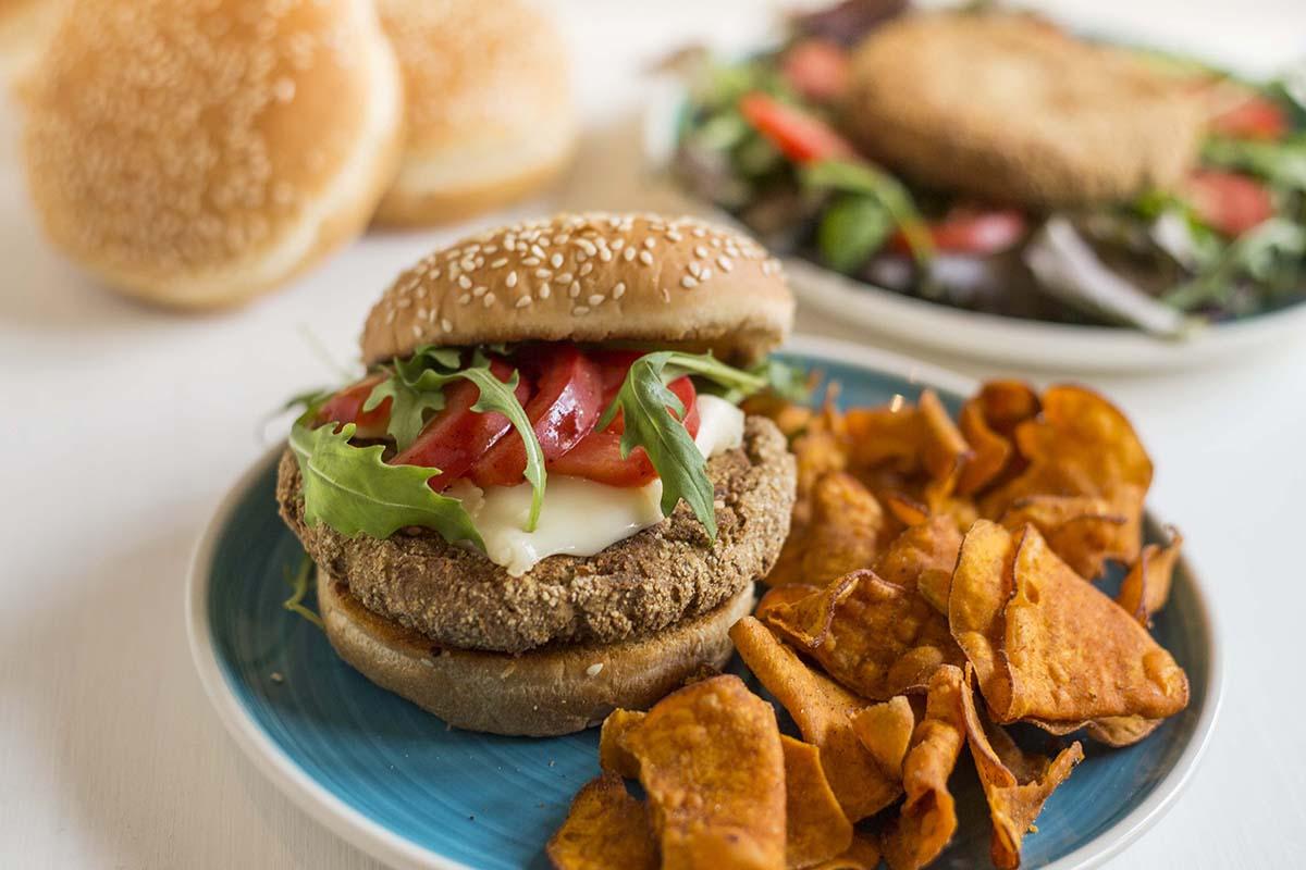 Receita de Hambúrguer Vegan de Cogumelos