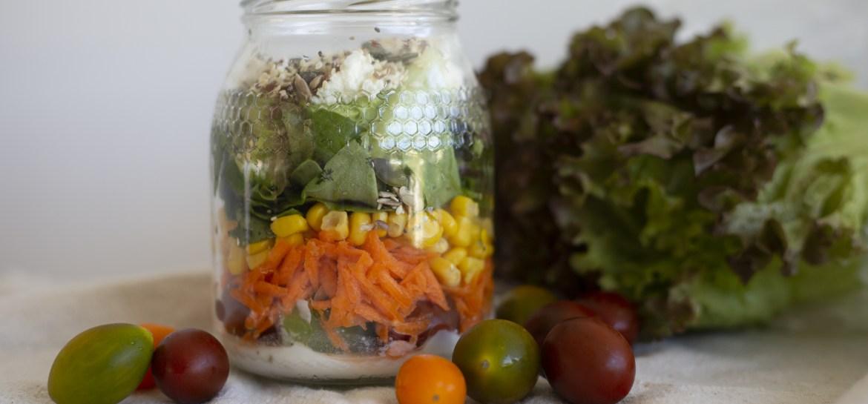 Salada no Frasco