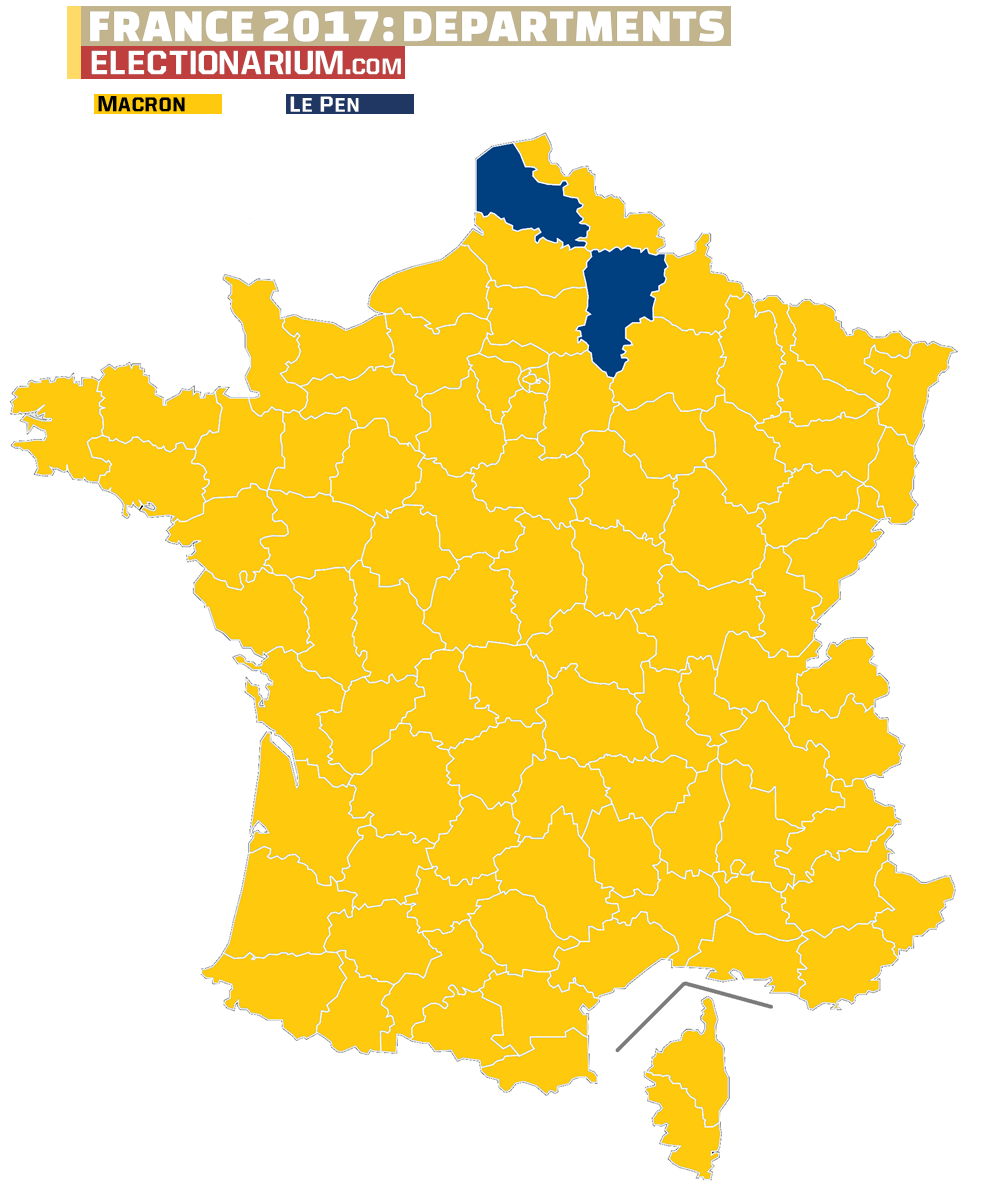 2017 French Presidential Election Results Map