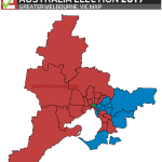 Australian Federal Election 2019 RESULTS - Melbourne Surrounds Map