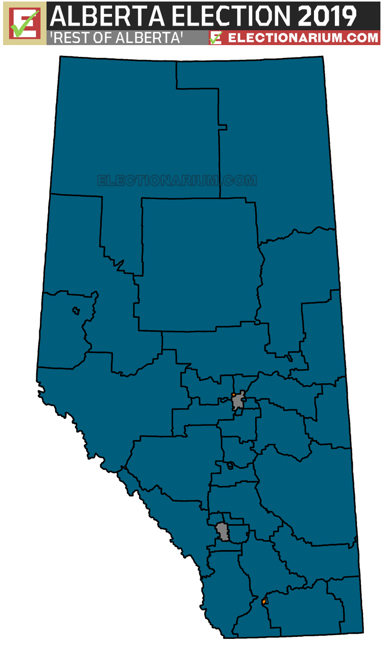 2019 Alberta Election Results - Alberta Seats Map