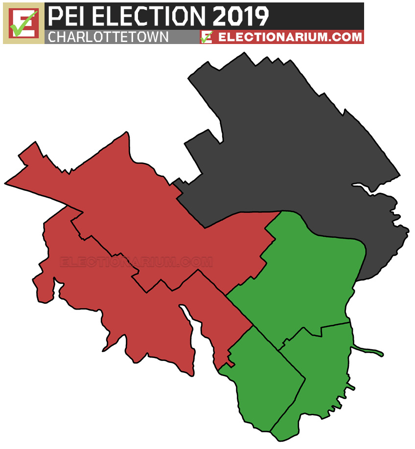 2019 Prince Edward Island Election results - Charlottetown map