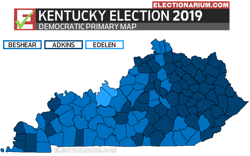 2019 Kentucky Primary - Democratic Map