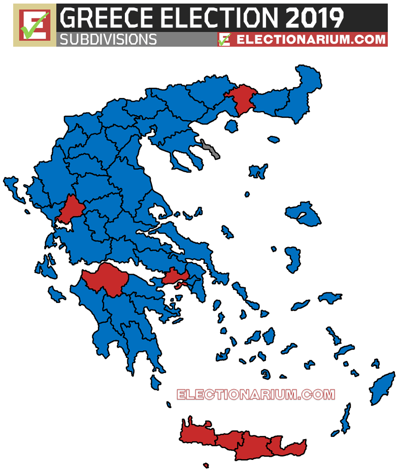Greek Electon 2019 results map