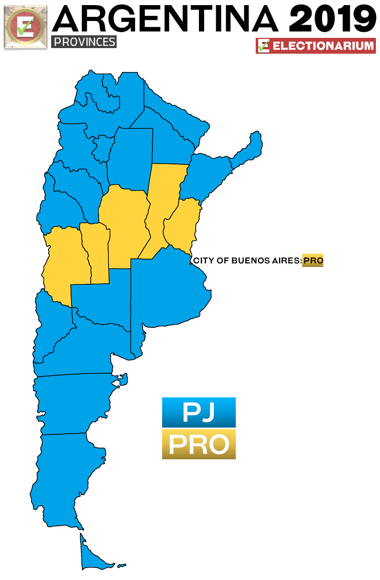 Argentina Presidential Election 2019 results - provinces