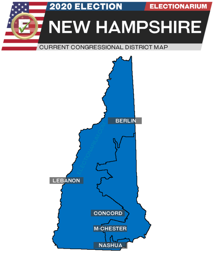2020 New Hampshire House Races - pre-election map