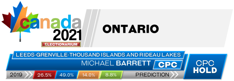 ON Leeds—Grenville—Thousand Islands and Rideau Lakes prediction 2021 Canadian election