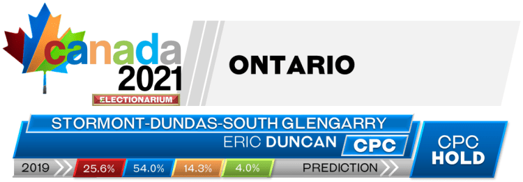 ON Stormont—Dundas—South Glengarry prediction 2021 Canadian election