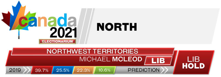 TERR Northwest Territories prediction 2021 Canadian election