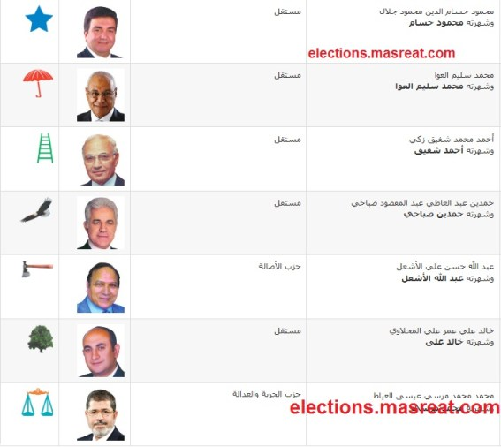 الانتخابات الرئاسية المصرية ٢٠١٢