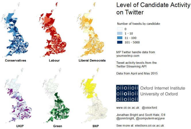 OII - GE2015 - Candidate Activity on Twitter - Bright, Hale - web