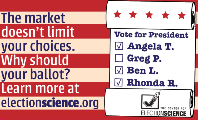 The market doesn't limit your choices, why should your ballot?