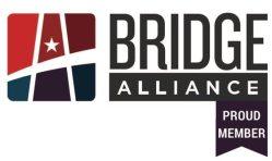 "A logo that says ""Bridge Alliance - Proud Member"""