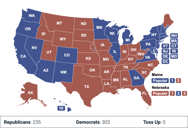 Cory Gardner 2020 electoral vote map